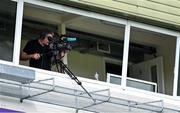 25 July 2020; A cameraman films during the Kerry County Senior Club Football Championship Group 1 Round 1 match between Kenmare Shamrocks and Kerins O'Rahillys at Fitzgerald Stadium in Killarney, Kerry. GAA matches continue to take place in front of a limited number of people in an effort to contain the spread of the Coronavirus (COVID-19) pandemic. Photo by Brendan Moran/Sportsfile
