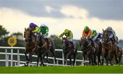 28 July 2020; Walking On Glass, with Leigh Roche up, second left, leads Conron, with Shane Foley up, who finished second, on their way to winning the Latin Quarter Handicap on day two of the Galway Summer Racing Festival at Ballybrit Racecourse in Galway. Horse racing remains behind closed doors to the public under guidelines of the Irish Government in an effort to contain the spread of the Coronavirus (COVID-19) pandemic. Photo by Harry Murphy/Sportsfile