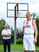30 July 2020; EBS ambassadors and Tralee Warriors Basketball Club stalwarts Kieran Donnaghy, right and Jimmy Diggins pictured at the launch of the 2020 Federation of Irish Sport Volunteers in Sport Awards supported by EBS. The awards will see EBS and the Federation of Irish Sport hero the work of volunteers from around the country, who go above and beyond every day to ensure that sport takes place in Ireland. Volunteers in sport in Ireland dedicate some 37.2 million hours of volunteering across the country's 13,000+ sports clubs and associations each year. EBS wants to recognise that dedication and that passion and, through this partnership with the Federation of Irish Sport, looks forward to heroing these volunteers at an awards ceremony this November. To nominate an everyday hero, simply visit www.volunteersinsport.ie. Nominations can be made by a club, individual or sporting body and are open from July 30th, 2020 to September 25th, 2020.   Photo by Brendan Moran/Sportsfile