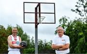 30 July 2020; EBS ambassadors and Tralee Warriors Basketball Club stalwarts, Kieran Donaghy, left, and Jimmy Diggins, pictured at the launch of the 2020 Federation of Irish Sport Volunteers in Sport Awards supported by EBS. The awards will see EBS and the Federation of Irish Sport hero the work of volunteers from around the country, who go above and beyond every day to ensure that sport takes place in Ireland. Volunteers in sport in Ireland dedicate some 37.2 million hours of volunteering across the country's 13,000+ sports clubs and associations each year. EBS wants to recognise that dedication and that passion and, through this partnership with the Federation of Irish Sport, looks forward to heroing these volunteers at an awards ceremony this November. To nominate an everyday hero, simply visit www.volunteersinsport.ie. Nominations can be made by a club, individual or sporting body and are open from July 30th, 2020 to September 25th, 2020.   Photo by Brendan Moran/Sportsfile