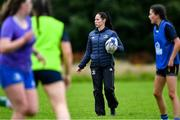 30 July 2020; Coach Emily McKeown during a Leinster U18 Girls Squad Training session at Cill Dara RFC in Kildare. Photo by Piaras Ó Mídheach/Sportsfile