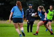 30 July 2020; Coach Michael Bolger during a Leinster U18 Girls Squad Training session at Cill Dara RFC in Kildare. Photo by Piaras Ó Mídheach/Sportsfile