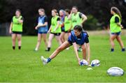 30 July 2020; Jade Gaffney during a Leinster U18 Girls Squad Training session at Cill Dara RFC in Kildare. Photo by Piaras Ó Mídheach/Sportsfile
