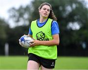 30 July 2020; Anna Nolan during a Leinster U18 Girls Squad Training session at Cill Dara RFC in Kildare. Photo by Piaras Ó Mídheach/Sportsfile