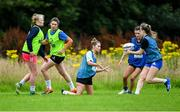 30 July 2020; Danielle Loughnane, centre, during a Leinster U18 Girls Squad Training session at Cill Dara RFC in Kildare. Photo by Piaras Ó Mídheach/Sportsfile