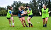30 July 2020; Eve Tarpey in possession during a Leinster U18 Girls Squad Training session at Cill Dara RFC in Kildare. Photo by Piaras Ó Mídheach/Sportsfile