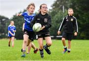 30 July 2020; Ruby Devlin and Eoghan Neiland during the Bank of Ireland Leinster Rugby Summer Camp at Dundalk RFC in Louth. Photo by Eóin Noonan/Sportsfile