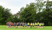 30 July 2020; Players during Leinster Rugby squad training at UCD in Dublin. Professional rugby continues its return in a phased manner, having been suspended since March due to the Irish Government's efforts to contain the spread of the Coronavirus (COVID-19) pandemic. Having had zero positive results from the latest round of PCR testing, the Leinster Rugby players and staff have been cleared to enter the next phase of their return to rugby today which includes a graduated return to contact training. Photo by Conor Sharkey for Leinster Rugby via Sportsfile