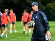 30 July 2020; Head coach Leo Cullen during Leinster Rugby squad training at UCD in Dublin. Professional rugby continues its return in a phased manner, having been suspended since March due to the Irish Government's efforts to contain the spread of the Coronavirus (COVID-19) pandemic. Having had zero positive results from the latest round of PCR testing, the Leinster Rugby players and staff have been cleared to enter the next phase of their return to rugby today which includes a graduated return to contact training. Photo by Conor Sharkey for Leinster Rugby via Sportsfile