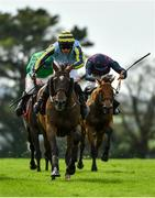 30 July 2020; Guinevere, with Simon Torrens up, on their way to winning the Guinness Novice Hurdle on day four of the Galway Summer Racing Festival at Ballybrit Racecourse in Galway. Horse racing remains behind closed doors to the public under guidelines of the Irish Government in an effort to contain the spread of the Coronavirus (COVID-19) pandemic. Photo by Harry Murphy/Sportsfile