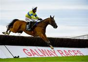 30 July 2020; Polished Steel, with Robbie Power up, jumps the last on their way to winning the Rockshore Novice Steeplechase on day four of the Galway Summer Racing Festival at Ballybrit Racecourse in Galway. Horse racing remains behind closed doors to the public under guidelines of the Irish Government in an effort to contain the spread of the Coronavirus (COVID-19) pandemic. Photo by Harry Murphy/Sportsfile