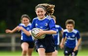 31 July 2020; Ciara Byrne, age 10, in action during a Bank of Ireland Leinster Rugby Summer Camp at Coolmine RFC in Dublin. Photo by Matt Browne/Sportsfile