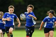 31 July 2020; Culi Langan Given, age 9, in action during a Bank of Ireland Leinster Rugby Summer Camp at Coolmine RFC in Dublin. Photo by Matt Browne/Sportsfile