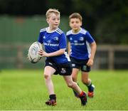 31 July 2020; Jamie Duggan, age 10, in action during a Bank of Ireland Leinster Rugby Summer Camp at Coolmine RFC in Dublin. Photo by Matt Browne/Sportsfile