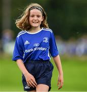 31 July 2020; Ciara Byrne, age 10, during a Bank of Ireland Leinster Rugby Summer Camp at Coolmine RFC in Dublin. Photo by Matt Browne/Sportsfile