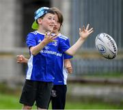 31 July 2020; Tomas Connolly, age 8, during a Bank of Ireland Leinster Rugby Summer Camp at Coolmine RFC in Dublin. Photo by Matt Browne/Sportsfile