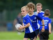 31 July 2020; Jack O'Dwyer, age 7, during a Bank of Ireland Leinster Rugby Summer Camp at Coolmine RFC in Dublin. Photo by Matt Browne/Sportsfile