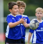 31 July 2020; Marcus Jankowski, age 7, during a Bank of Ireland Leinster Rugby Summer Camp at Coolmine RFC in Dublin. Photo by Matt Browne/Sportsfile