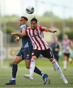 31 July 2020; Gerardo Bruna of Derry City in action against Will Seymour of Sligo Rovers during the SSE Airtricity League Premier Division match between Derry City and Sligo Rovers at the Ryan McBride Brandywell Stadium in Derry. The SSE Airtricity League Premier Division made its return today after 146 days in lockdown but behind closed doors due to the ongoing Coronavirus restrictions. Photo by Seb Daly/Sportsfile