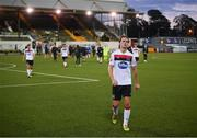 31 July 2020; Daniel Cleary of Dundalk following the SSE Airtricity League Premier Division match between Dundalk and St Patrick's Athletic at Oriel Park in Dundalk, Louth. The SSE Airtricity League Premier Division made its return today after 146 days in lockdown but behind closed doors due to the ongoing Coronavirus restrictions.  Photo by Stephen McCarthy/Sportsfile
