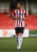31 July 2020; Gerardo Bruna of Derry City during the SSE Airtricity League Premier Division match between Derry City and Sligo Rovers at the Ryan McBride Brandywell Stadium in Derry. The SSE Airtricity League Premier Division made its return today after 146 days in lockdown but behind closed doors due to the ongoing Coronavirus restrictions. Photo by Seb Daly/Sportsfile