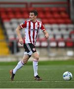 31 July 2020; Ciarán Coll of Derry City during the SSE Airtricity League Premier Division match between Derry City and Sligo Rovers at the Ryan McBride Brandywell Stadium in Derry. The SSE Airtricity League Premier Division made its return today after 146 days in lockdown but behind closed doors due to the ongoing Coronavirus restrictions. Photo by Seb Daly/Sportsfile