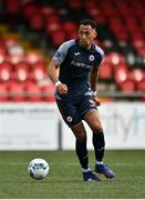 31 July 2020; Will Seymour of Sligo Rovers during the SSE Airtricity League Premier Division match between Derry City and Sligo Rovers at the Ryan McBride Brandywell Stadium in Derry. The SSE Airtricity League Premier Division made its return today after 146 days in lockdown but behind closed doors due to the ongoing Coronavirus restrictions. Photo by Seb Daly/Sportsfile