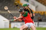 1 August 2020; Tadhg Dwyer of James Stephens in action against Des Dunne of Danesfort during the Kilkenny County Senior Hurling League Group A match between James Stephens and Danesfort at UPMC Nowlan Park in Kilkenny. GAA matches continue to take place in front of a limited number of people due to the ongoing Coronavirus restrictions. Photo by Matt Browne/Sportsfile