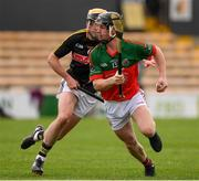 1 August 2020; Tadhg Dwyer of James Stephens in action against Cathal O'Neill of Danesfort during the Kilkenny County Senior Hurling League Group A match between James Stephens and Danesfort at UPMC Nowlan Park in Kilkenny. GAA matches continue to take place in front of a limited number of people due to the ongoing Coronavirus restrictions. Photo by Matt Browne/Sportsfile