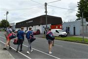 1 August 2020; Erin's Own players cross the road outside the ground as they make their way to Páirc Uí Rinn prior to the Cork County Senior Hurling Championship Group B Round 1 match between Blackrock and Erin's Own. GAA matches continue to take place in front of a limited number of people due to the ongoing Coronavirus restrictions. Photo by Brendan Moran/Sportsfile