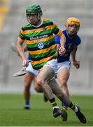 1 August 2020; Liam Coughlan of Glen Rovers in action against Billy Hennessy of St. Finbarrs during the Cork County Senior Hurling Championship Group C Round 1 match between Glen Rovers and St. Finbarrs at Páirc Uí Chaoimh in Cork. GAA matches continue to take place in front of a limited number of people due to the ongoing Coronavirus restrictions. Photo by Brendan Moran/Sportsfile