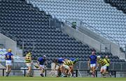 1 August 2020; Players attempts to get possession ofthe sliotar during the Cork County Senior Hurling Championship Group C Round 1 match between Glen Rovers and St. Finbarrs at Páirc Uí Chaoimh in Cork. GAA matches continue to take place in front of a limited number of people due to the ongoing Coronavirus restrictions. Photo by Brendan Moran/Sportsfile