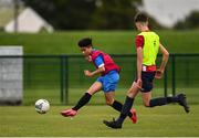 3 August 2020; Aaron McLaughlin during a Republic of Ireland Under 15s Assessment Day at the FAI National Training Centre at the Sport Ireland Campus in Dublin. Photo by Ramsey Cardy/Sportsfile