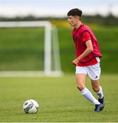 3 August 2020; Aidan Russell during a Republic of Ireland Under 15s Assessment Day at the FAI National Training Centre at the Sport Ireland Campus in Dublin. Photo by Ramsey Cardy/Sportsfile