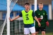 3 August 2020; Goalkeeper Robert Barry during a Republic of Ireland Under 15s Assessment Day at the FAI National Training Centre at the Sport Ireland Campus in Dublin. Photo by Ramsey Cardy/Sportsfile
