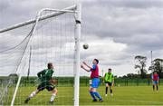 3 August 2020; Goalkeeper Robert Barry and Sean Patton, red, during a Republic of Ireland Under 15s Assessment Day at the FAI National Training Centre at the Sport Ireland Campus in Dublin. Photo by Ramsey Cardy/Sportsfile
