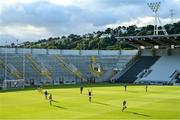 1 August 2020; Patrick Horgan of Glen Rovers takes a free in front of an empty stand and terrace during the Cork County Senior Hurling Championship Group C Round 1 match between Glen Rovers and St. Finbarrs at Páirc Uí Chaoimh in Cork. GAA matches continue to take place in front of a limited number of people due to the ongoing Coronavirus restrictions. Photo by Brendan Moran/Sportsfile