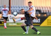 31 July 2020; Patrick McEleney of Dundalk in action against Jamie Lennon of St Patrick's Athletic during the SSE Airtricity League Premier Division match between Dundalk and St Patrick's Athletic at Oriel Park in Dundalk, Louth. The SSE Airtricity League Premier Division made its return today after 146 days in lockdown but behind closed doors due to the ongoing Coronavirus restrictions. Photo by Piaras Ó Mídheach/Sportsfile