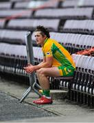 2 August 2020; Kieran Molloy of Corofin serves his sin-bin time in the stand early in the first half during the Galway County Senior Football Championship Group 4A Round 1 match between Corofin and Oughterard at Pearse Stadium in Galway. GAA matches continue to take place in front of a limited number of people due to the ongoing Coronavirus restrictions. Photo by Piaras Ó Mídheach/Sportsfile