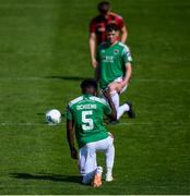 2 August 2020; Henry Ochieng of Cork City takes a knee in support of the Black Lives Matter movement prior to the SSE Airtricity League Premier Division match between Cork City and Bohemians at Turners Cross in Cork. The SSE Airtricity League Premier Division made its return this weekend after 146 days in lockdown but behind closed doors due to the ongoing Coronavirus restrictions. Photo by Stephen McCarthy/Sportsfile