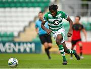 2 August 2020; Thomas Oluwa of Shamrock Rovers II during the SSE Airtricity League First Division match between Shamrock Rovers II and Drogheda United at Tallaght Stadium in Dublin. The SSE Airtricity League made its return this weekend after 146 days in lockdown but behind closed doors due to the ongoing Coronavirus restrictions. Photo by Seb Daly/Sportsfile