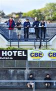 2 August 2020; Spectators look on from a nearby house during the Galway County Senior Football Championship Group 1 Round 1 match between Salthill-Knocknacarra and St Michael's at Pearse Stadium in Galway. GAA matches continue to take place in front of a limited number of people due to the ongoing Coronavirus restrictions. Photo by Piaras Ó Mídheach/Sportsfile