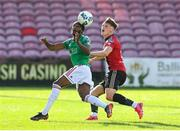 2 August 2020; Deshane Dalling of Cork City in action against Andy Lyons of Bohemians during the SSE Airtricity League Premier Division match between Cork City and Bohemians at Turners Cross in Cork. The SSE Airtricity League Premier Division made its return this weekend after 146 days in lockdown but behind closed doors due to the ongoing Coronavirus restrictions. Photo by Stephen McCarthy/Sportsfile