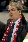 3 December 2006; John Hume MP watches on following the FAI Carlsberg Senior Challenge Cup Final between Derry City and St Patrick's Athletic at Lansdowne Road in Dublin. Photo by David Maher/Sportsfile