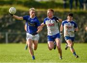 2 August 2020; Shane Carey of Scotstown in action against Kieran Duffy of Latton during the Monaghan Senior Football Championship Group 2 Round 2 match between Latton O'Rahilly GAA Club and Scotstown at Latton O'Rahillys GFC at Castleblayney, Monaghan. GAA matches continue to take place in front of a limited number of people in an effort to contain the spread of the Coronavirus (COVID-19) pandemic. Photo by Philip Fitzpatrick/Sportsfile