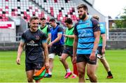 3 August 2020; Michael Lowry, left, and Stuart McCloskey during Ulster Rugby squad training at Kingspan Stadium in Belfast. Photo by Robyn McMurray for Ulster Rugby via Sportsfile