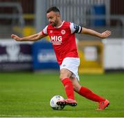 3 August 2020; Robbie Benson of St Patrick's Athletic during the SSE Airtricity League Premier Division match between St Patrick's Athletic and Derry City at Richmond Park in Dublin. Photo by Stephen McCarthy/Sportsfile