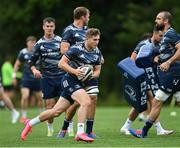 4 August 2020; Jordan Larmour during Leinster Rugby squad training at UCD in Dublin. Professional rugby continues its return in a phased manner, having been suspended since March due to the ongoing Coronavirus restrictions. Having had zero positive results from the latest round of PCR testing, the Leinster Rugby players and staff have been cleared to enter the next phase of their return to rugby today which includes a graduated return to contact training. Photo by Ramsey Cardy/Sportsfile
