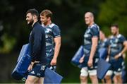 4 August 2020; Robbie Henshaw during Leinster Rugby squad training at UCD in Dublin. Professional rugby continues its return in a phased manner, having been suspended since March due to the ongoing Coronavirus restrictions. Having had zero positive results from the latest round of PCR testing, the Leinster Rugby players and staff have been cleared to enter the next phase of their return to rugby today which includes a graduated return to contact training. Photo by Ramsey Cardy/Sportsfile