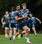 4 August 2020; Cian Kelleher during Leinster Rugby squad training at UCD in Dublin. Professional rugby continues its return in a phased manner, having been suspended since March due to the ongoing Coronavirus restrictions. Having had zero positive results from the latest round of PCR testing, the Leinster Rugby players and staff have been cleared to enter the next phase of their return to rugby today which includes a graduated return to contact training. Photo by Ramsey Cardy/Sportsfile